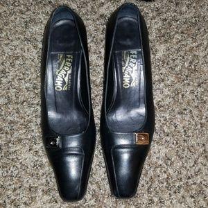 Salvatore Ferragamo Black Heels (10B)